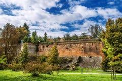 Park in Olomouc. Bezrucovy sady. Bezrucovy sady. Park in Olomouc, Moravia, in the Czech Republic Stock Image