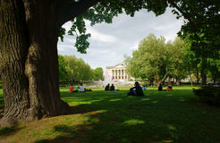 Park and opera house in Poznan Royalty Free Stock Photo