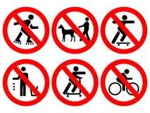 Park ordnet Zeichen an stock abbildung