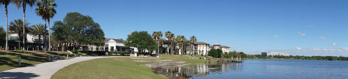 Park at Orlando Florida. Residential section in a city royalty free stock images