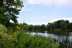 Park in Ostafievo estate in Podolsk district, Moscow region, Russia Stock Images