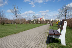 Park outdor in Gdansk Zaspa. Stock Photo