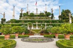 Park på ön av Isola Bella italy arkivbilder