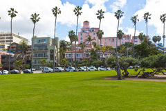 Park at the Pacific Ocean Coast Royalty Free Stock Image