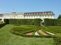 The park of the palace of Ludwigsburg. The baroque gardens of Ludwigsburg castle in Baden Wuertemberg in Germany during the summer Stock Images