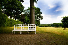 The park of palace Seehof Stock Photography