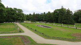 Park panorama stock footage