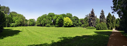 Park panoramic view Royalty Free Stock Images
