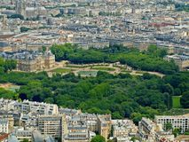 Park in Paris: Jardin du Luxembourg palace Royalty Free Stock Photos