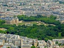 Park in Paris: Jardin du Luxembourg palace. Park with flowers in Paris: Jardin du Luxembourg palace royalty free stock photos