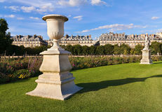 Park in Paris. Park with statuary in Paris royalty free stock photo