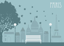 Park in Paris. Vector illustration Royalty Free Stock Photography