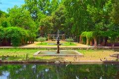 Park Parque de Μαρία Luisa κοντά στο Plaza της Ισπανίας στη Σεβίλη Στοκ Εικόνα
