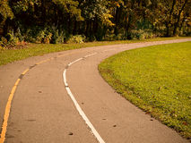 Park Path. A winding park path in the fall Stock Image