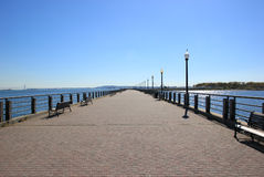 Park path. Path in Liberty State park. Jersey City, NJ Royalty Free Stock Photo
