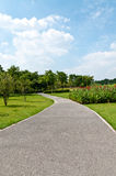 Park paths into the distance Royalty Free Stock Photography