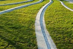 Park paths Royalty Free Stock Photo