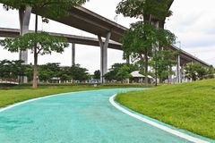 Park Pathway in Thailand Stock Photo