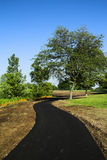 Park pathways. New bike path in a local park Stock Image