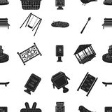Park pattern icons in black style. Big collection of park vector symbol stock illustration Stock Photos