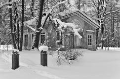 Park pavilion in winter Stock Photos