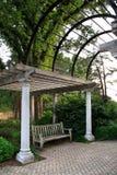 Park Pavillion And Bench Royalty Free Stock Photos
