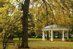 Park - pavillon. Park around the chateau in Teplice, Czech republic Royalty Free Stock Photo