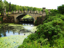 Park in Pavlovsk (Russia), bridge Stock Photos