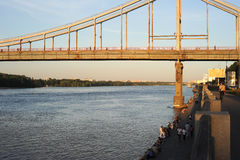 The Park Pedestrian Bridge Stock Images