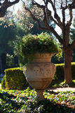 Park of Pedralbes Royal Palace. Barcelona Stock Photo