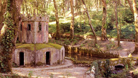 Park pena. Magnificent old buildings Park Pena Sintra Royalty Free Stock Photography