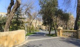 Park philharmonisch in Baku Stockfotos