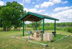 Park picnic area with grill Stock Photography