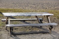 Park picnic table Royalty Free Stock Images