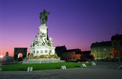 Park Place. Reconciliation Park in the evening, Arad, Romania Royalty Free Stock Image