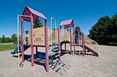 Park with Playground Equipment Stock Photos