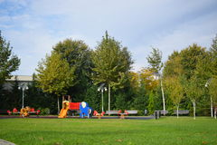 Park with playground Royalty Free Stock Images