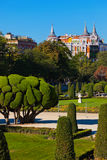 Park of the Pleasant Retreat in Madrid Spain Royalty Free Stock Photos