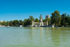 Park of the Pleasant Retreat Pond, Madrid Stock Photos
