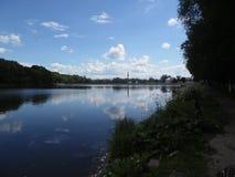Park and pond in Bogoroditsk. stock photography