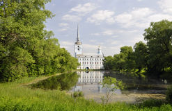 The Park and pond near the Church of Peter and Paul. Yaroslavl. Russia stock images