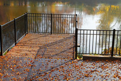 Park pond pier Stock Images