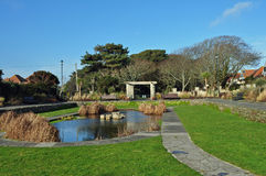 Park with pond Stock Photo