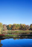 Park with Ponds in Warsaw Royalty Free Stock Photography