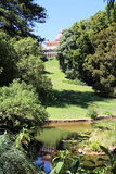 Park with pool, Monserrate palace, Sintra, Portugal Royalty Free Stock Photos