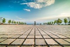 Park at Port of Thessaloniki, Paralia, Greece Royalty Free Stock Photography