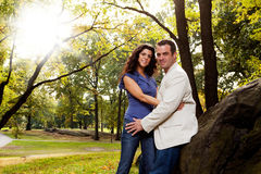 Park Portrait Engagement royalty free stock image