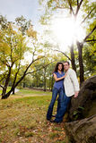 Park Portrait Engagement stock images