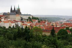 Park Prague Castle Attraction Royalty Free Stock Photo
