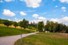 Park in Prague Stock Photo